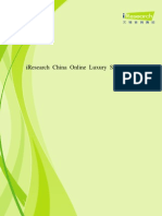 China Online Luxury Shopping Report