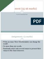 Assignment Oleo Chem