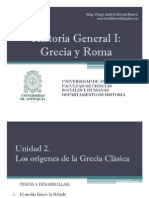 Unidad 2 Los orígenes de la Grecia Clásica (Avance)