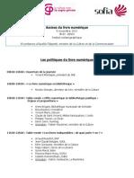 Programme Assises du livre numérique SNE