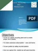 Plastic Recycling Business Plan Presentation