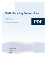 Plastic Recycling Business Plan