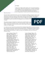 La lettre ouverte des 68 prix Nobels