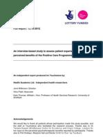 Health Academix Ltd Final Report to Touchstone 20121