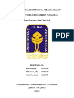 Analisis Jurnal pemasaran