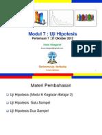 Pengantar Statistik Sosial Pertemuan7 Modul7 Dan 6 (20121021)