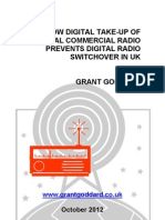 'Low Digital Take-Up Of Local Commercial Radio Prevents Digital Radio Switchover In UK' by Grant Goddard