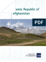 Country Assistance Program Evaluation for Afghanistan