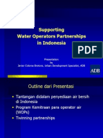 Supporting  Water Operators Partnerships in Indonesia