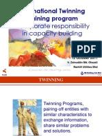 International Twinning Training program  - Corporate responsibility in capacity building