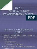 Tinjauan Pengembangan Sistem
