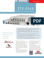 RAD ETX-204A Carrier Ethernet Demarcation Device  Data Sheet