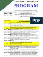 Konferencja Smolenska Program - 22.10.2012