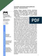Dynamika niemieckiej opinii publicznej  (marzec – kwiecień 2011)