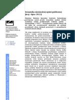 Dynamika niemieckiej opinii publicznej (maj–lipiec 2011)