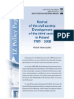 Revival of the civil society.Development of the third sector in Poland 1989 - 2008