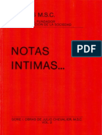 Julio Chevalier Msc, Notas Intimas...