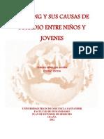 BULLYING Y SUS CAUSAS DE SUICIDIO ENTRE NIÑOS Y JOVENES TARABAJO