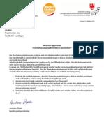Gescheiterte Thermalwasserbohrungen in Meran - Landtagsanfrage der BürgerUnion