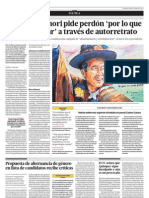 Alberto Fujimori pide perdón por lo que no pudo evitar a través de un autorretrato