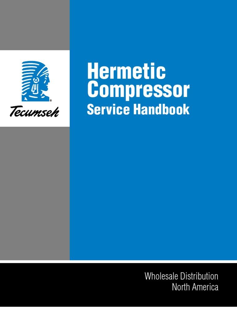 tecumseh service handbook gas compressor