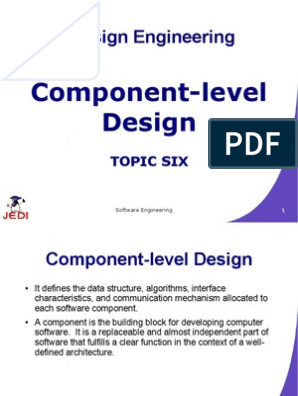 Meljun Cortes Jedi Slides 4 6 Component Level Design Class Computer Programming Inheritance Object Oriented Programming
