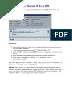 Transport Control Program TP Error