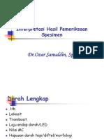 Bbc313 Slide Interpretasi Hasil Pemeriksaan Spesimen