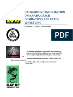 Background Information on Kapap, Gracie Combatives and Catch