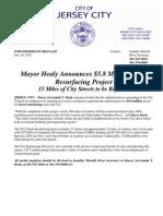 2012 Street Resurfacing Project Press Release