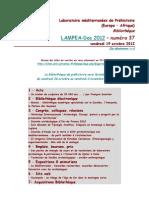 LAMPEA-Doc 2012 - numéro 37 / vendredi 19 octobre 2012