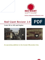 Red Giant Resizer2 User Guide
