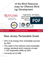 Analysis of the Wind Resource off New Jersey for Offshore Wind Energy Development