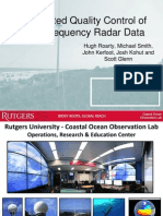 Automated Quality Control of High Frequency Radar Data