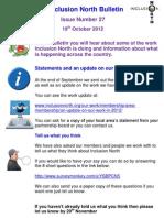 Inclusion North Bulletin 27