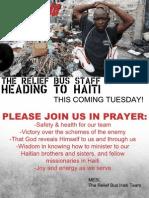 Please Pray as we Head to Haiti