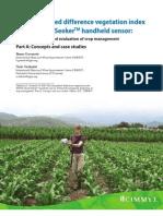 The normalized difference vegetation index (NDVI) Greenseeker(TM) handheld sensor