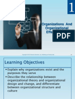 CH 1 - Organizations and Organizational Effectiveness