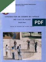 Construction de Citerne de Captage Des Eaux de Pluie - Manuel de Formation Des Ouvriers Ma Ons