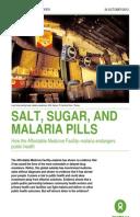 Salt, Sugar, and Malaria Pills: How the Affordable Medicine Facility–malaria endangers public health