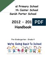 Alstead Attendance Area Handbook for Grades Pre-K - Grade 4  2012-2013
