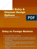 Foreign Market Entry & Channels of Distribution
