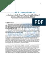 Identity Theft & Common Fraud 101