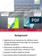 Rutgers University Coastal Ocean Observation Laboratory (RU-COOL) Advanced Modeling System Developed to Cost-Effectively Support Offshore Wind Energy Development and Operational Applications