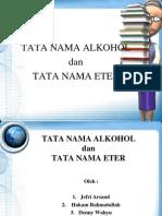 Tata Nama Alkohol Dan Eter - Kimia Presentation
