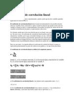 Coeficiente de correlación lineal