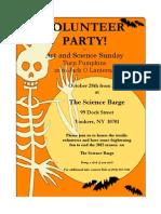 Science Barge Volunteer Party 2012