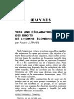 Esprit 7 - 2 - Ulmann, André - Vers une déclaration des droits de l'homme économique