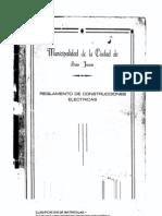 Reglamento Eléctrico Municipalidad San Juan