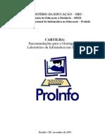 Recomendações do MEC para montagem de laboratório de informática